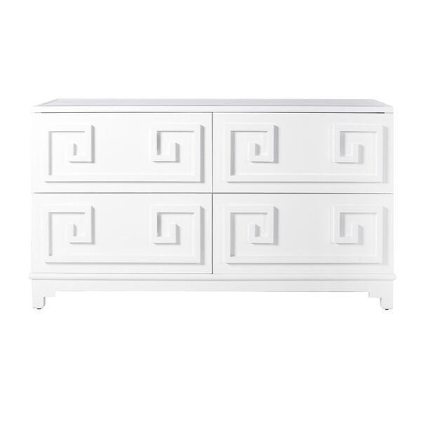 worlds away werstler dresser white lacquer storage furniture