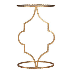 worlds away willa cigar table gold hammered iron front view