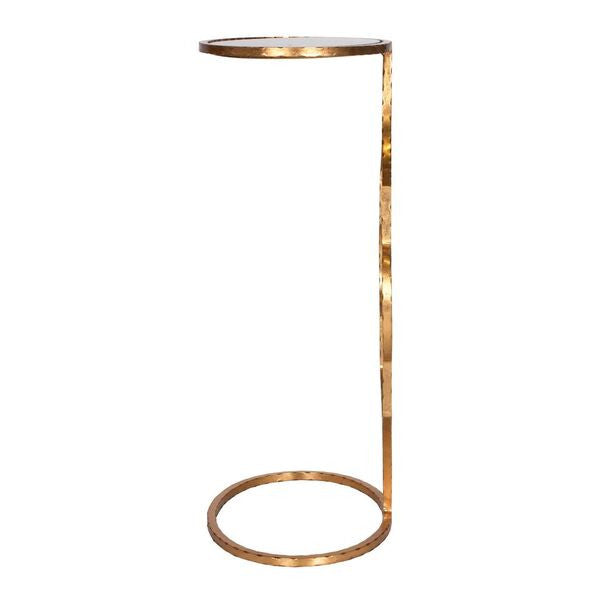 worlds away willa cigar table gold hammered iron side view