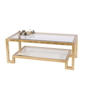 worlds away winston furniture gold coffee table