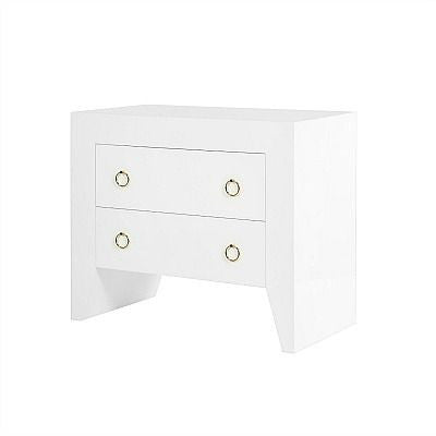 worlds away easton side table side view white gold