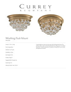 Currey & Company Worthing Flush Mount Ceiling Light Tearsheet