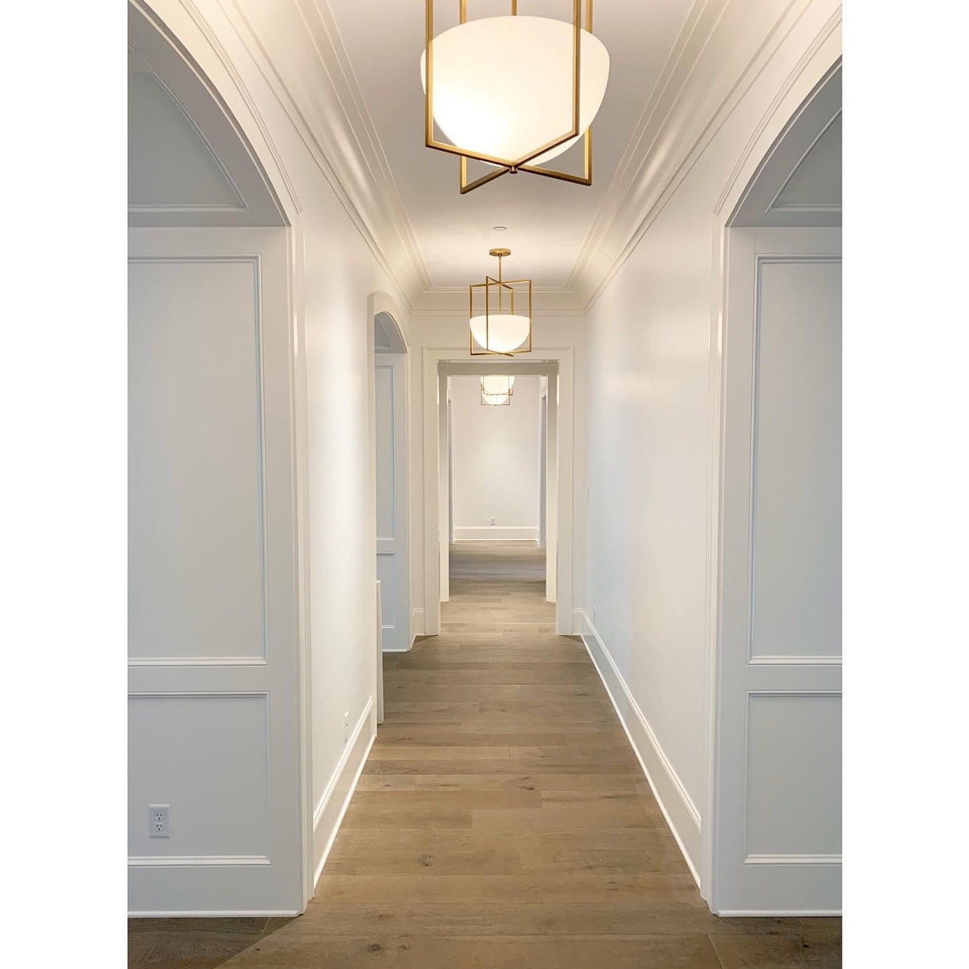arteriors royce pendant brass hallway lighting