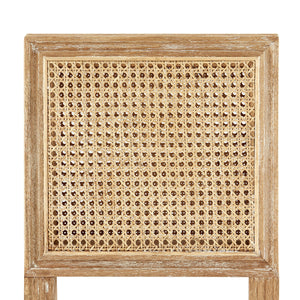 annette counter stool limed oak linen back bar stool caning detail