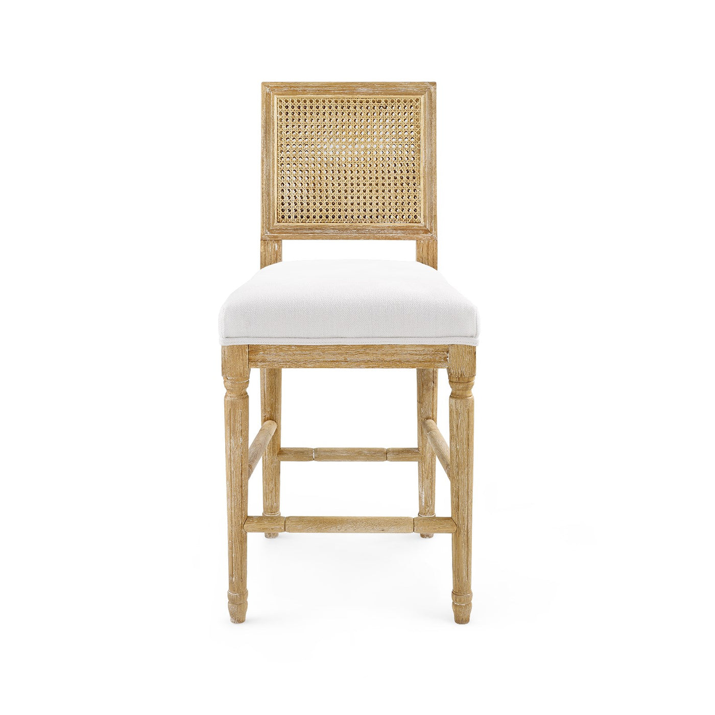 annette counter stool limed oak linen back bar stool caning front