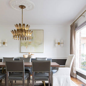 arteriors analise chandelier two tier dining room