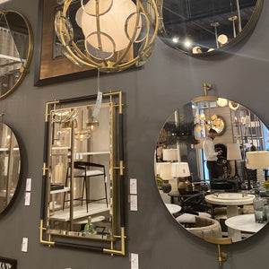 arteriors atlanta mirror rectangle black gold showroom