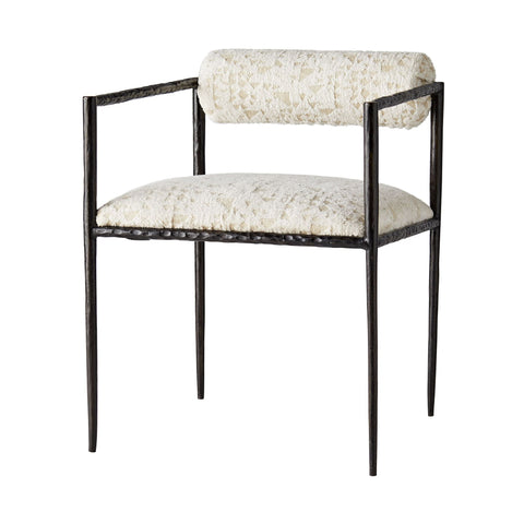arteriors barbana chair cream facet chenille