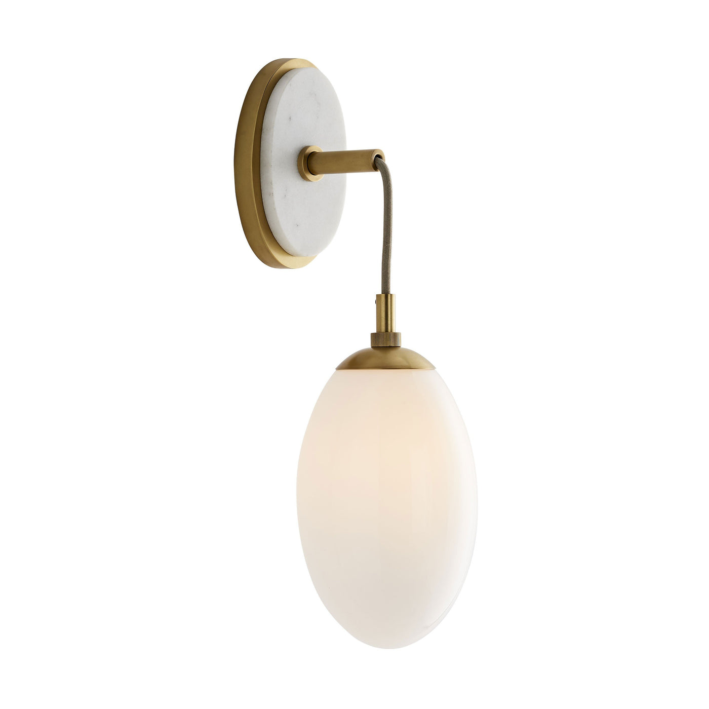 arteriors bindi sconce side illuminated