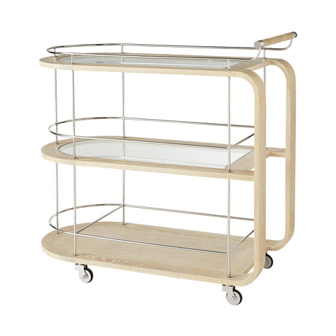 arteriors brays bar cart