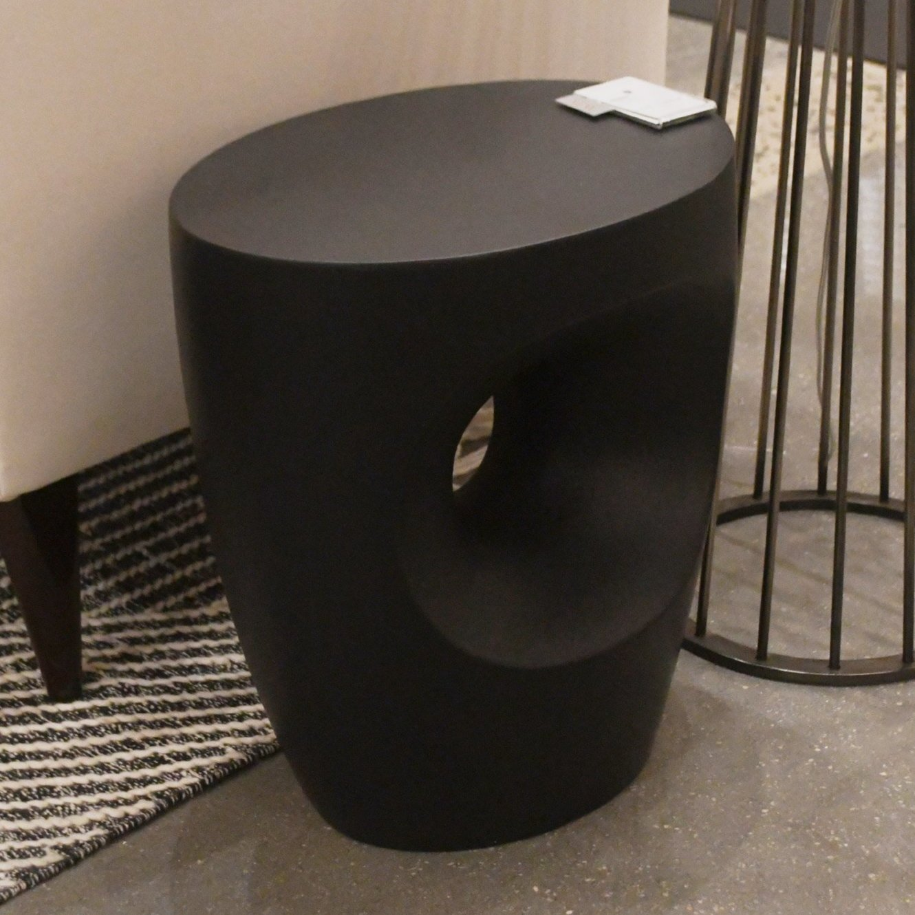 arteriors brett side table styled