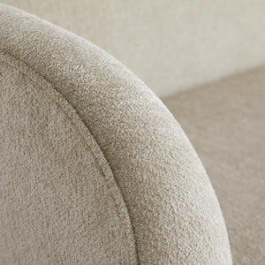 arteriors catalina chaise stone boucle arm