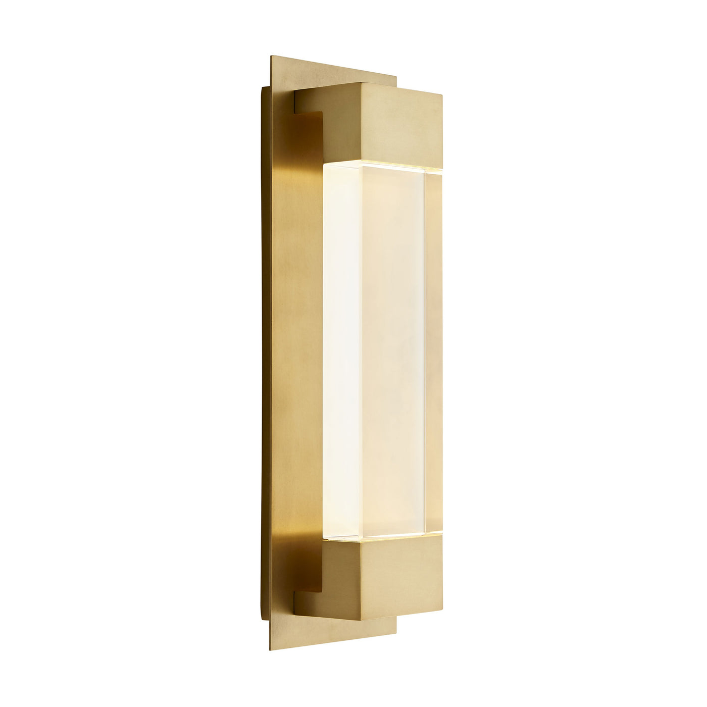 arteriors home charlie sconce angle illuminated