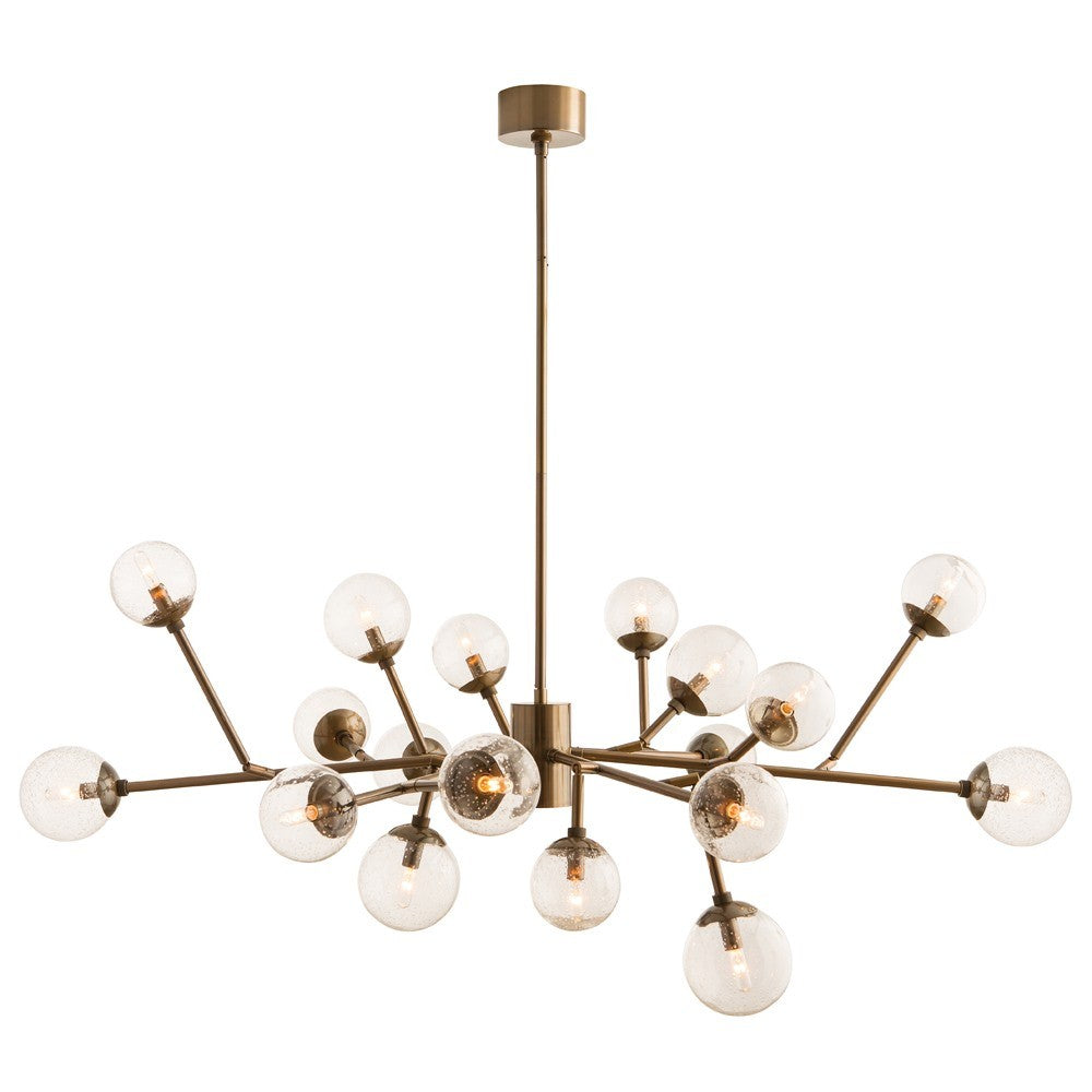 arteriors home dallas chandelier brass