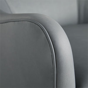 arteriors delfion grey leather swivel  arm