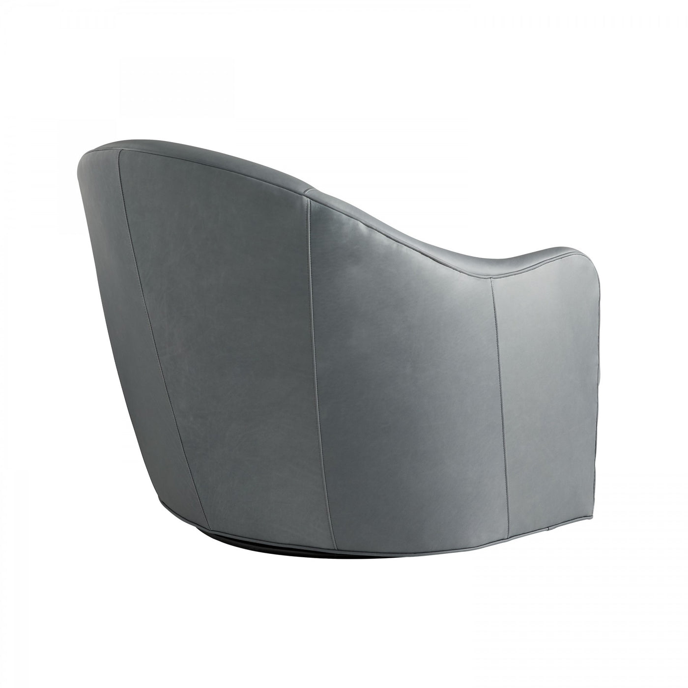 arteriors delfion grey leather swivel  back
