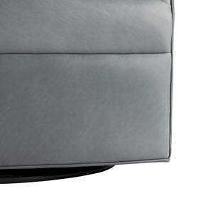 arteriors delfion grey leather swivel  bottom