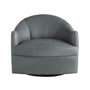 arteriors delfion grey leather swivel front