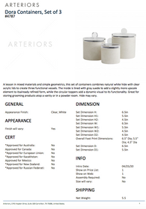 arteriors dora containers set of three tearsheet