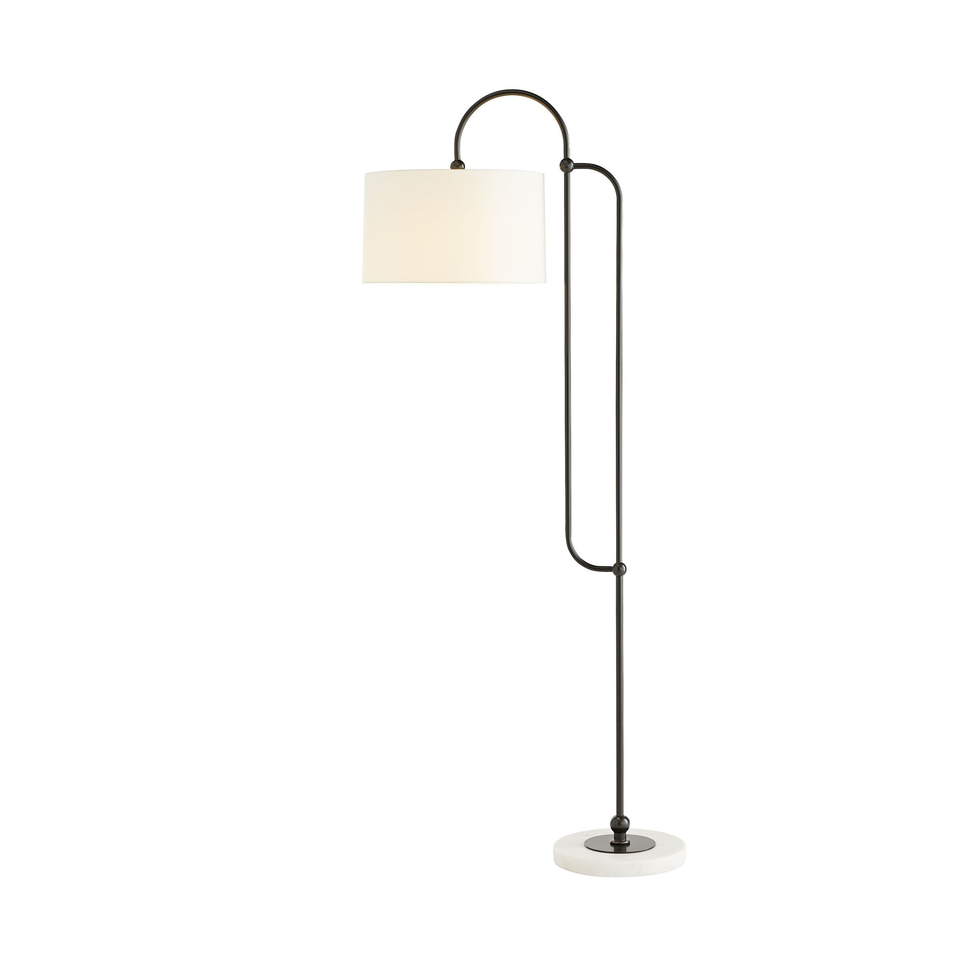 arteriors dorchester floor lamp bronze illuminated