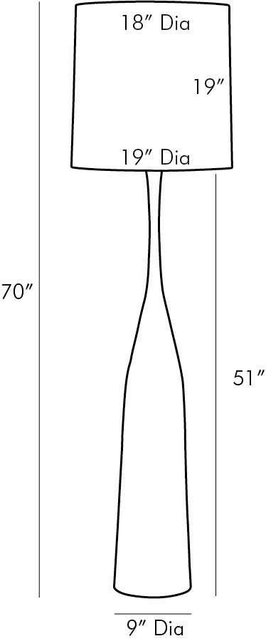 arteriors eliana floor lamp diagram