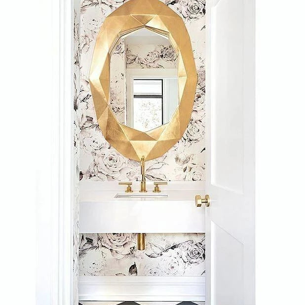 arteriors fallon oval mirror gold magazine