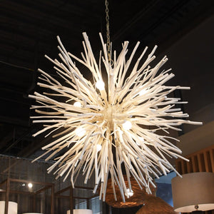arteriors finch chandelier white styled