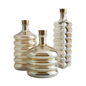 arteriors fiona decanters set of 3
