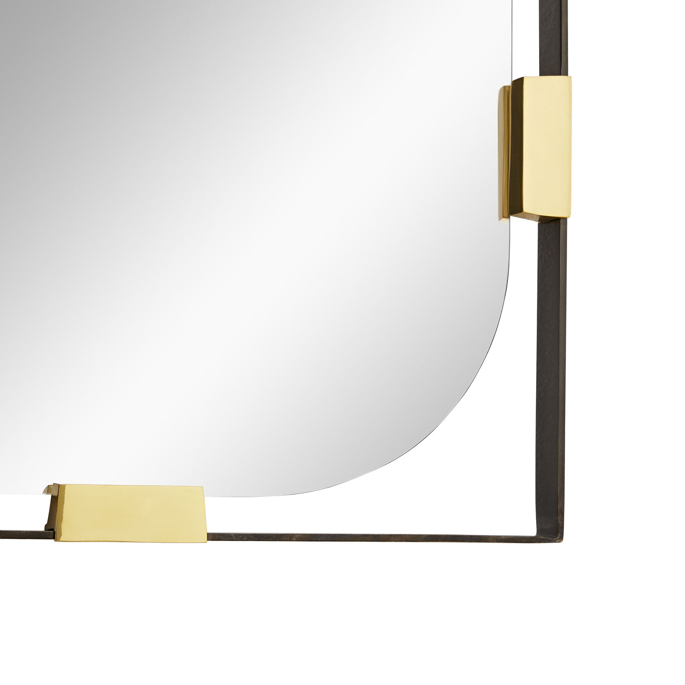 arteriors frankie floor mirror bottom corner