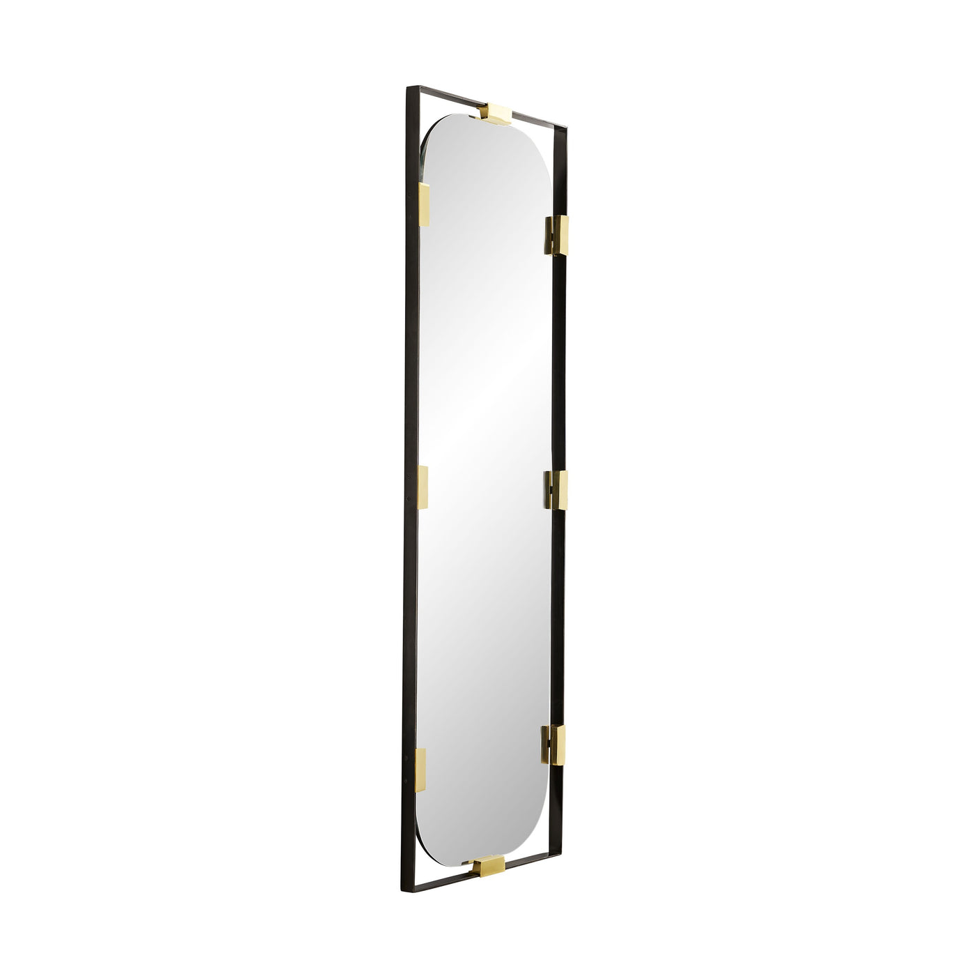 arteriors frankie floor mirror side view