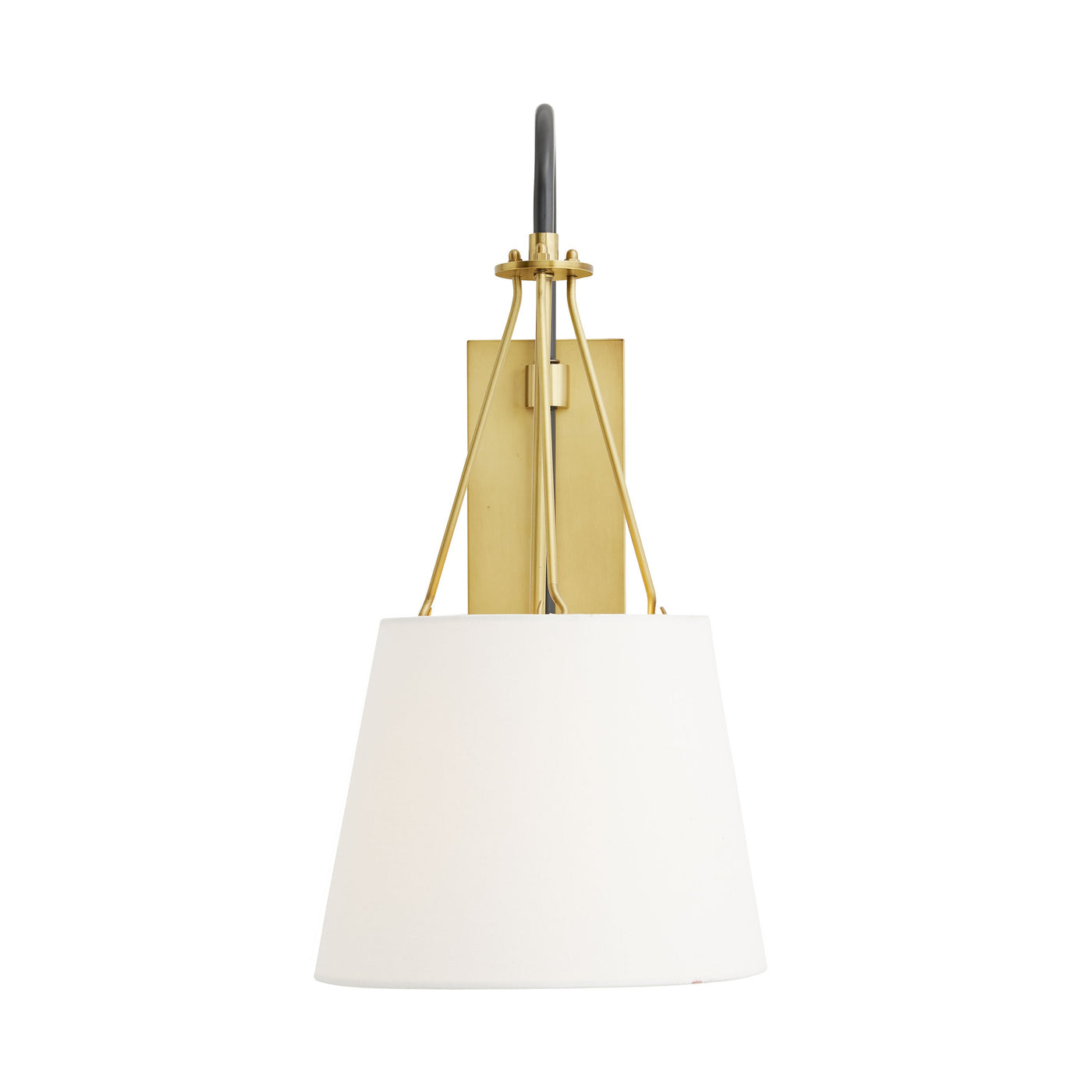 arteriors franklin sconce front illuminated