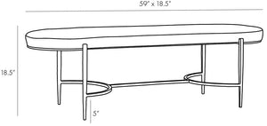 arteriors hanson bench natural diagram