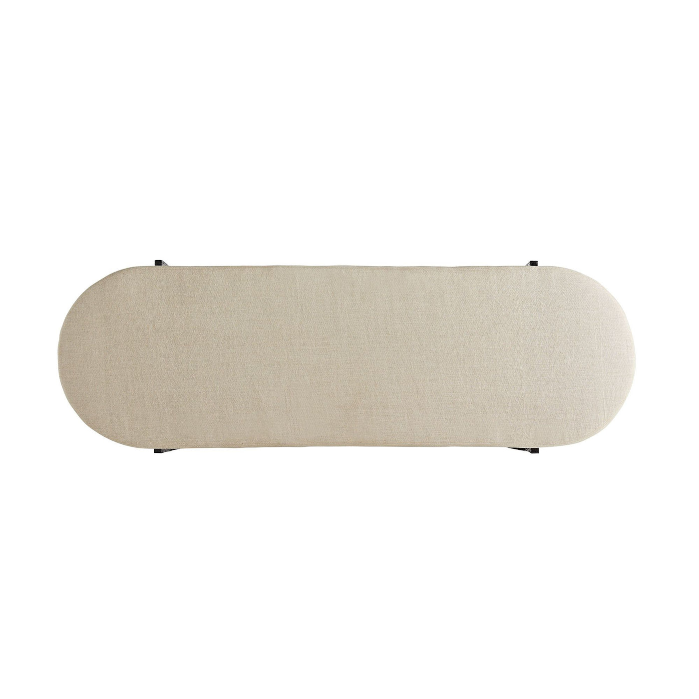 arteriors hanson bench natural top view