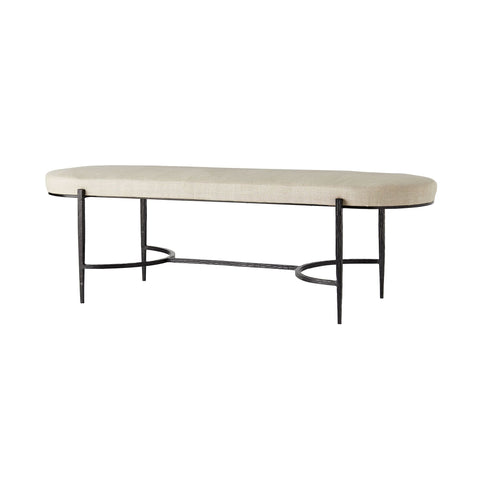 arteriors hanson bench natural