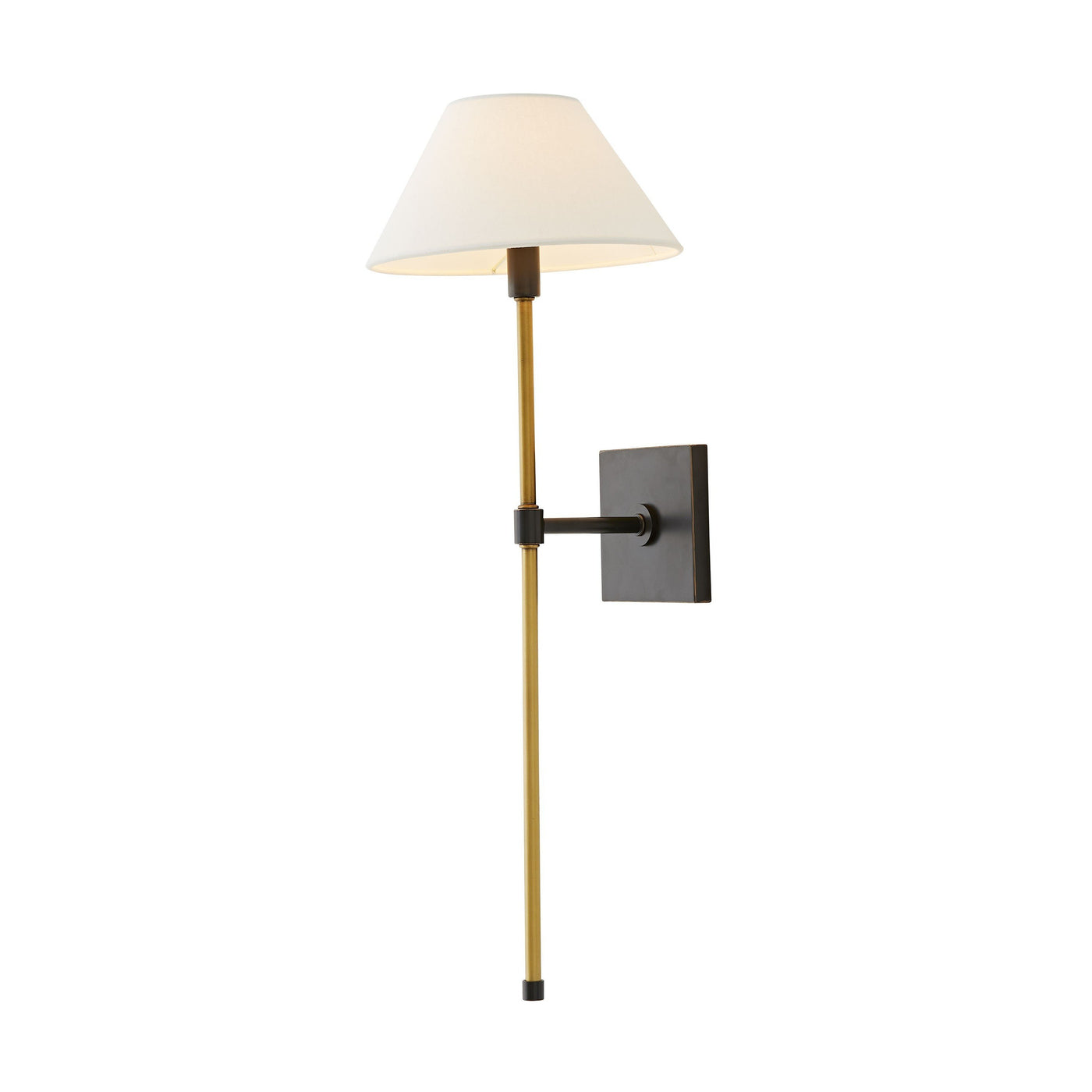 havana single sconce bronze illuminated