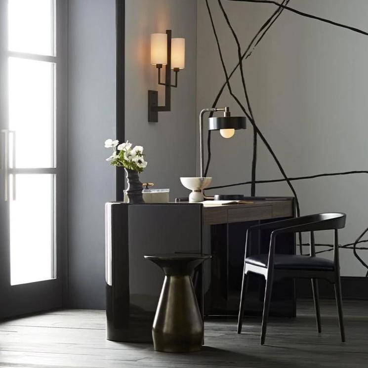 arteriors home haven accent table carbon styled