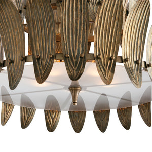 arteriors home analyze two tier chandelier detail