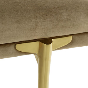 arteriors home andrea rectangular bench harvest detail