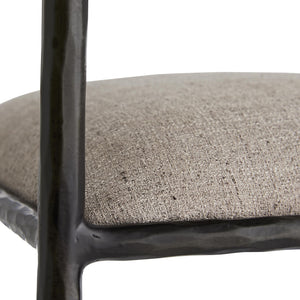 arteriors home barbana bar stool pewter texture detail