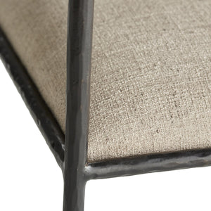 Arteriors Home Barbana Chair Pewter Texture Iron Poly-Blend