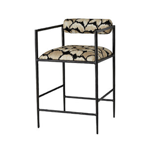arteriors home barbana counter stool ocelot embriodery