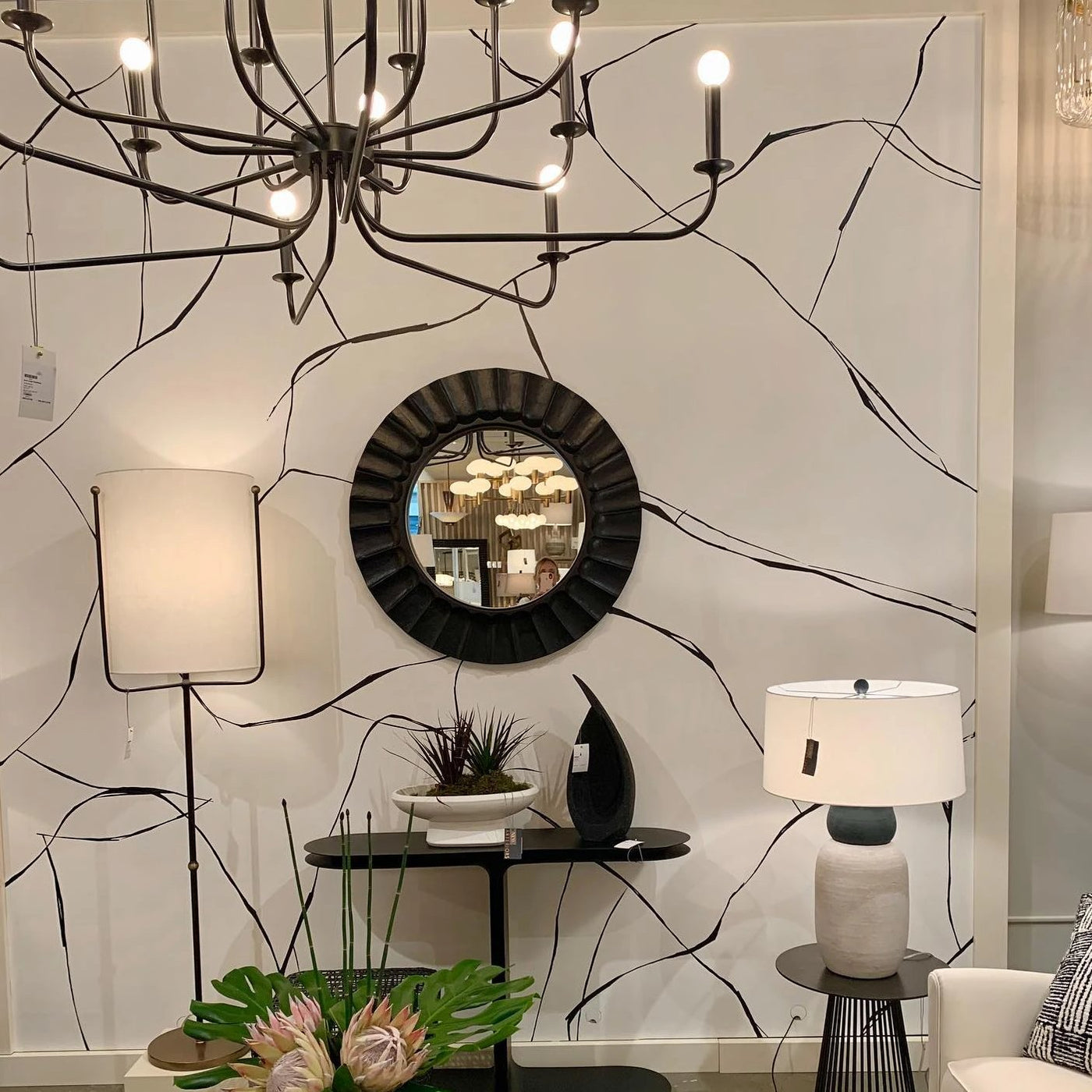 arteriors home breck large chandelier lifestyle