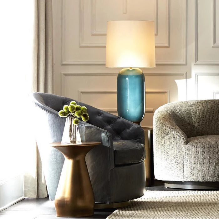 arteriors home capri chair grey room view