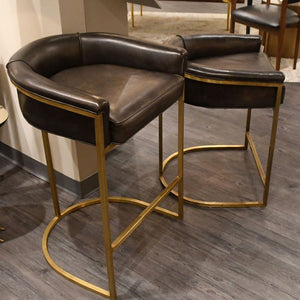 Calvin Counter Stool Brindle and Brass