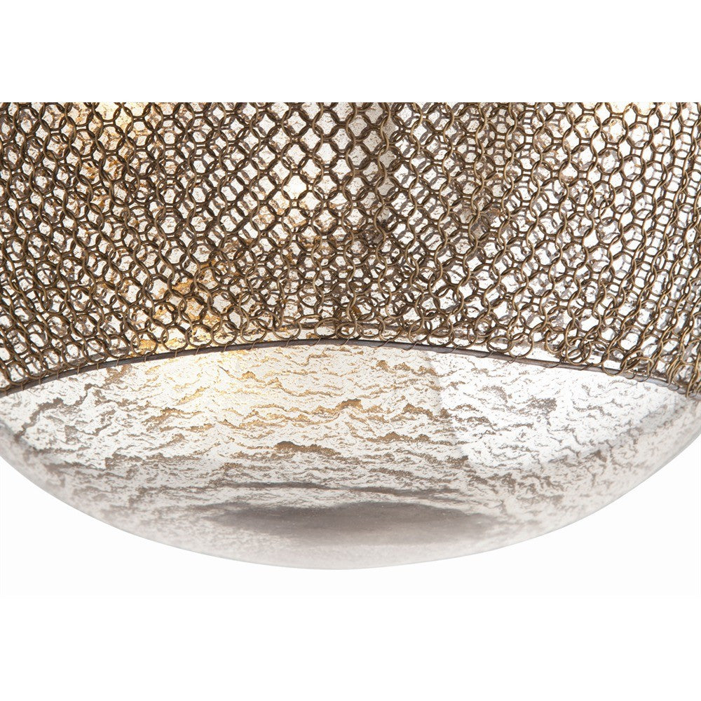 arteriors home chainmail light mercury glass close up DK-42043