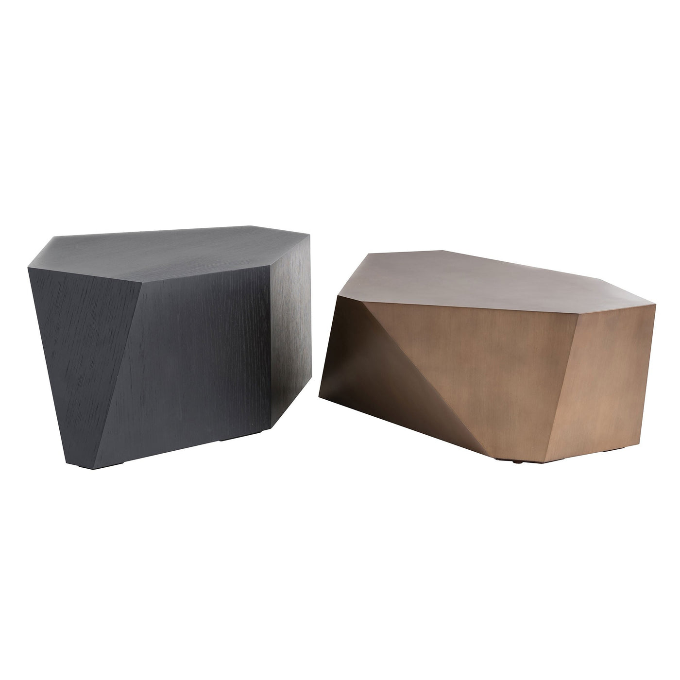 arteriors home chaka accent table set of 2 side tables, living room side table, bed side drawer, sofa side table, gold side table, brass side table, black side table, modern side table, side tables for living room, couch side table, side table for couch, bedroom side tables, accent table, DJ5012