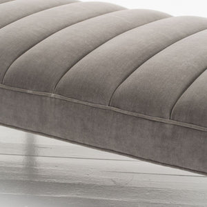 arteriors home christophe bench sharkskin velvet gray cushion