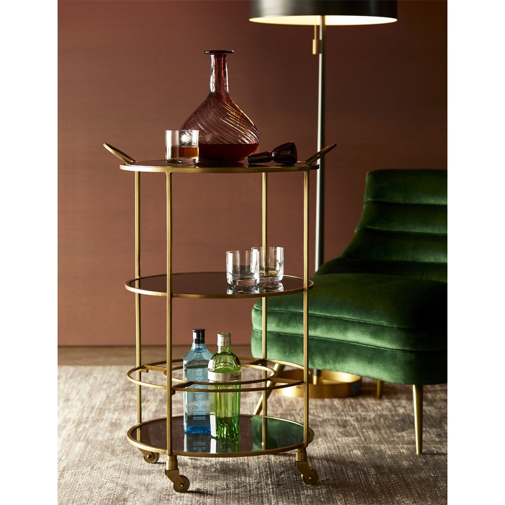 arteriors home crestwood bar cart lifestyle