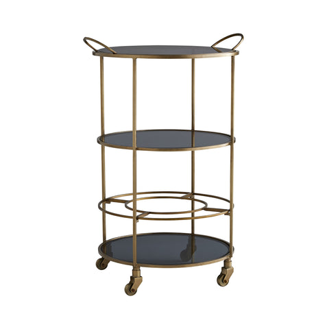 arteriors home crestwood bar cart