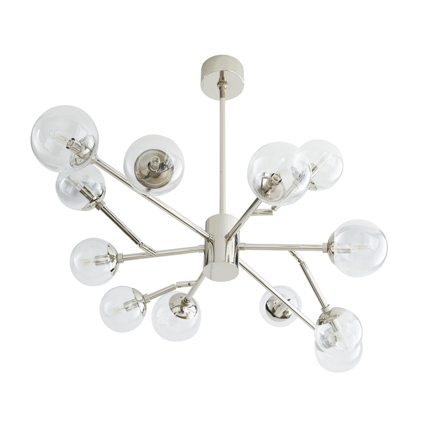 Arteriors Home Dallas Small Chandelier Polished Nickel – CLAYTON